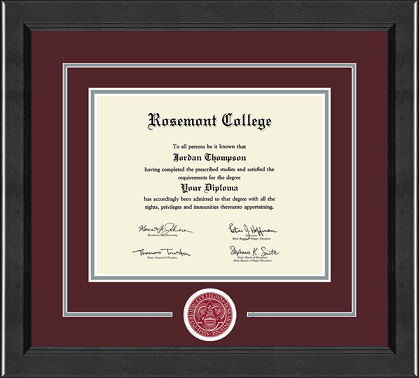 Lasting Memories Circle Logo Certificate Frame in Arena