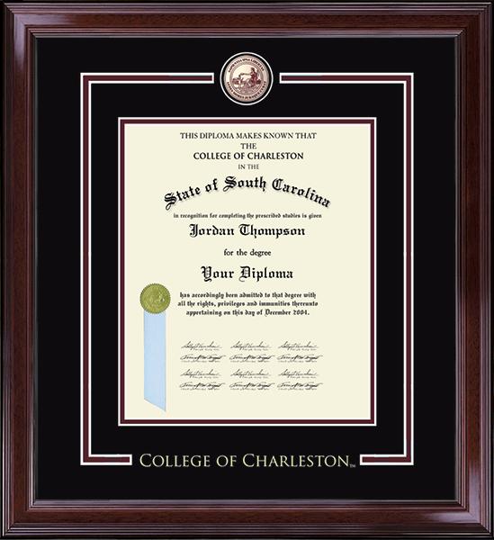 College Of Charleston Diploma Frames Church Hill Classics