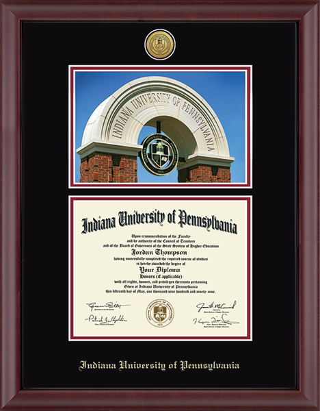 Gold Engraved Campus Scene Diploma Frame in Cambridge