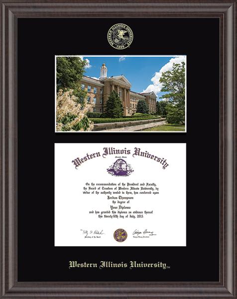 Campus Scene Diploma Frame in Acadia
