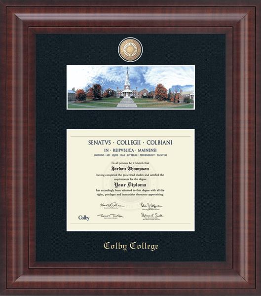 Campus Scene Masterpiece Diploma Frame in Premier