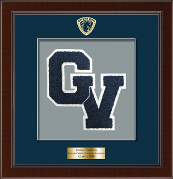 Varsity Letter Frame in Delta