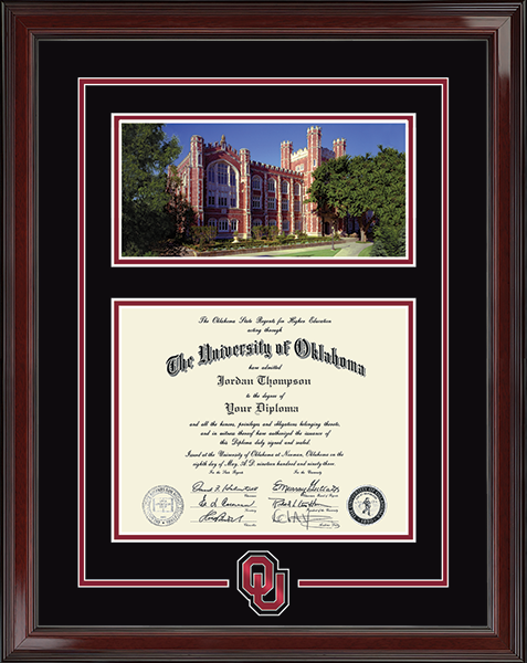 Campus Scene & Spirit Medallion Diploma Frame in Encore