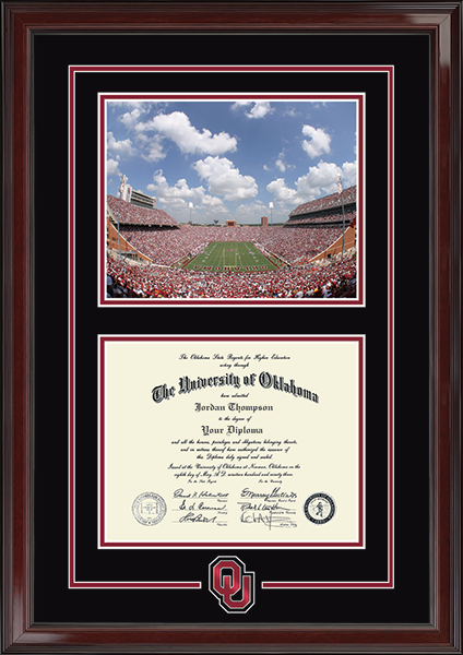 Stadium & Spirit Medallion Diploma Frame in Encore