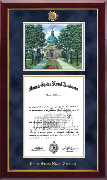Litho Edition Masterpiece Diploma Frame in Gallery