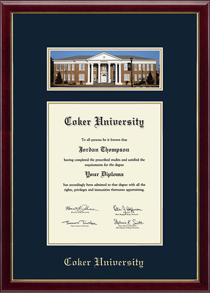 Coker University Campus Scene Diploma Frame in Galleria