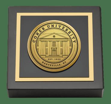 Coker University Gold Engraved Medallion Paperweight