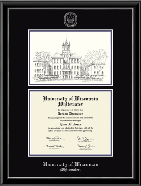 Campus Scene Overly Edition Diploma Frame in Onexa Silver