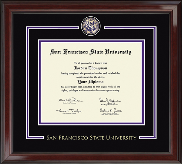 San Francisco State University Diploma Frames Church Hill Classics