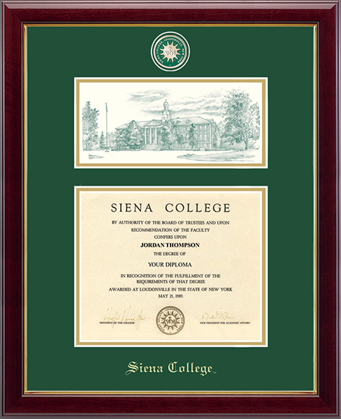 Campus Scene Masterpiece Medallion Diploma Frame in Gallery