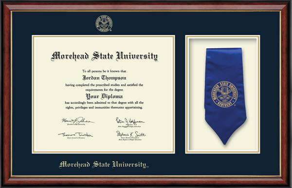Commemorative Sash Diploma Frame in Southport Gold