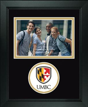 Lasting Memories Circle Logo Shield Photo Frame in Arena