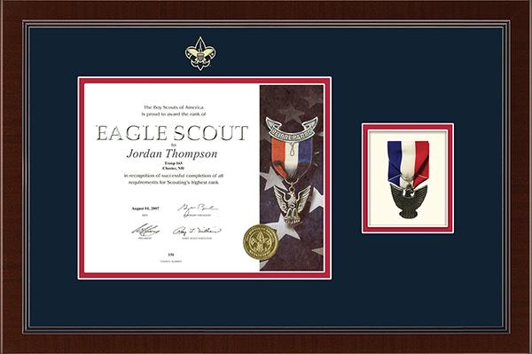 Medal Certificate Frame in Delta