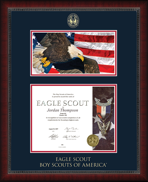Eagle Scout Certificate Frame with Photo in Sutton