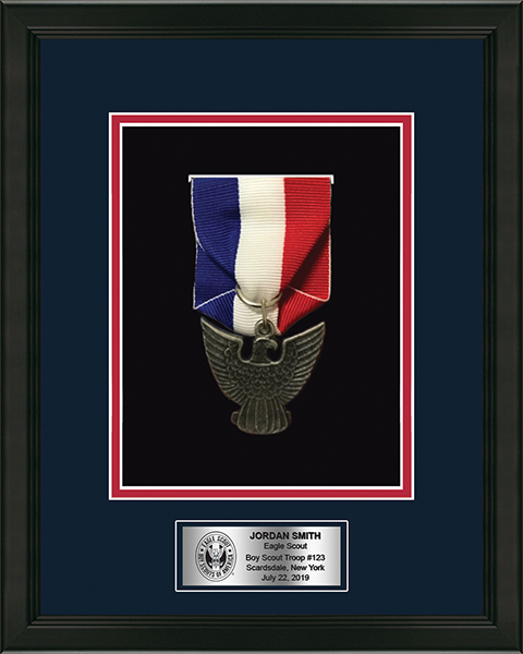 Commemorative Medal Shadow Box Frame in Omega