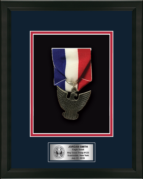 Commemorative Medal Shadow Box Frame in Omega