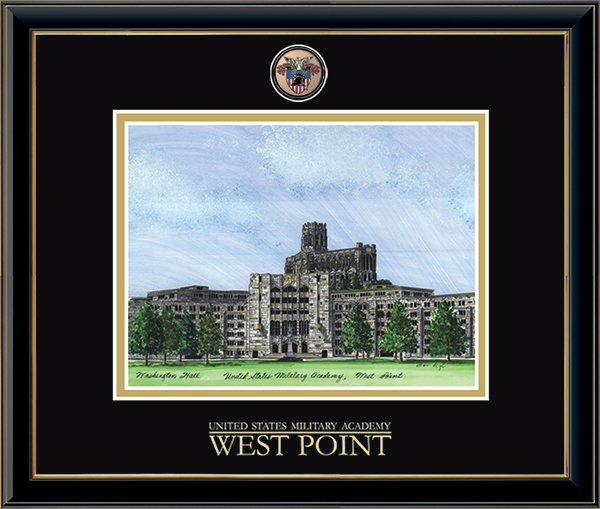 Masterpiece Medallion Washington Hall Litho Frame in Onexa Gold