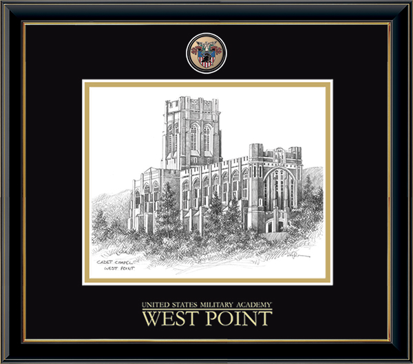 Masterpiece Medallion Cadet Chapel Litho Frame in Onexa Gold