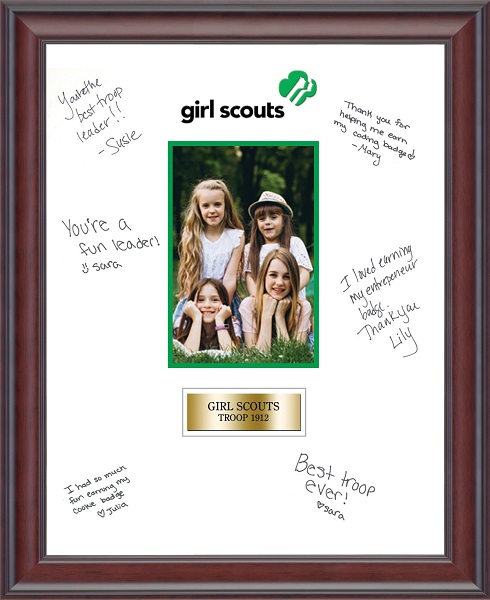 Girl Scout Autograph Photo Frame in Studio