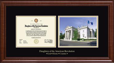 Memorial Continental Hall Certificate Frame in Prescott