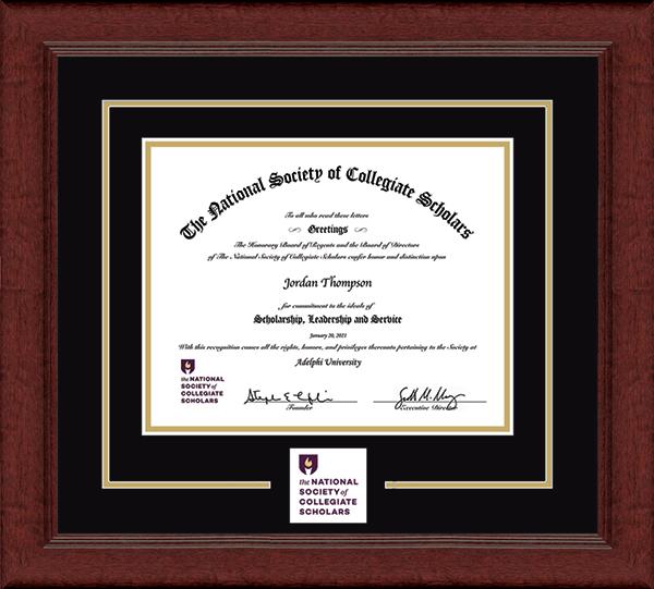 Lasting Memories Circle Logo Certificate Frame in Sierra