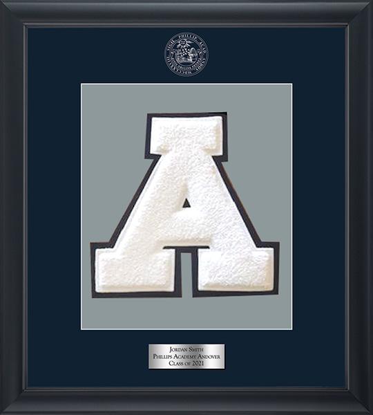 Phillips Academy Andover Varsity Letter Frame in Omega