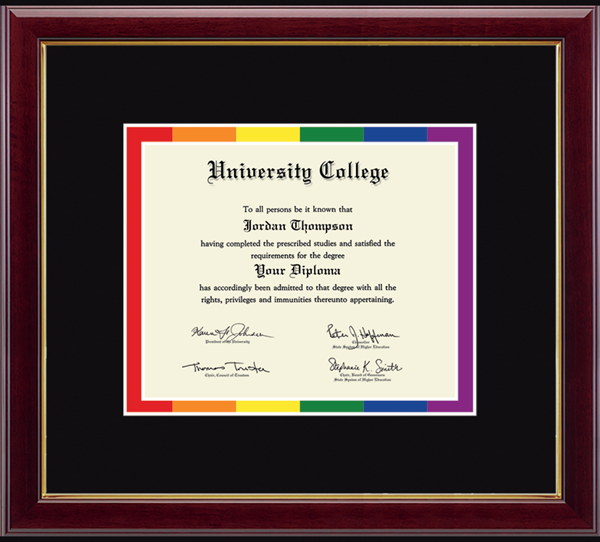Pride Frame for Documents in Gallery