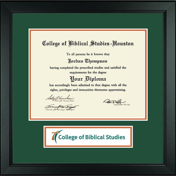 College of Biblical Studies - Houston Lasting Memories Banner Diploma Frame in Arena