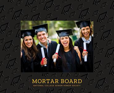 Mortar Board National College Senior Honor Society Spectrum Pattern Photo Frame