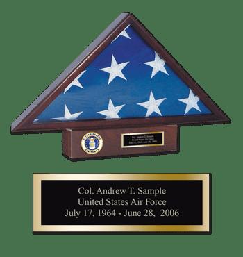 U.S. Air Force Memorial Medallion Flag Case