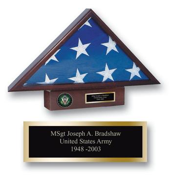 U.S. Army Memorial Medallion Flag Case