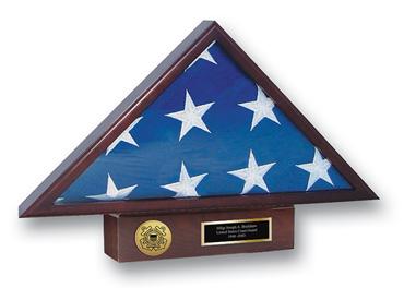 U.S. Coast Guard Memorial Medallion Flag Case