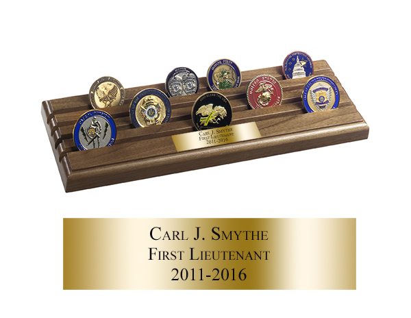 Challenge Coin Display Rack - 4 Rows