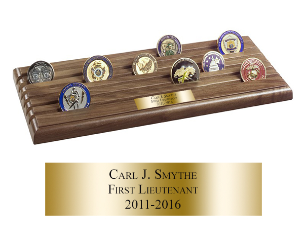 Challenge Coin Display Rack - 6 Rows