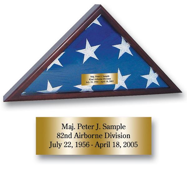 Memorial Honors Flag Case