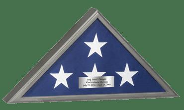 Memorial Honors Flag Case in Gunmetal Finish