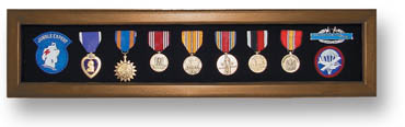 Military Shadow Box for Medals - Heirloom Walnut