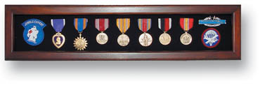 Military Shadow Box for Medals - Cherry