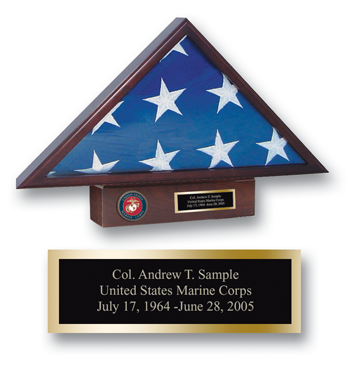 U.S. Marine Corps Memorial Medallion Flag Case