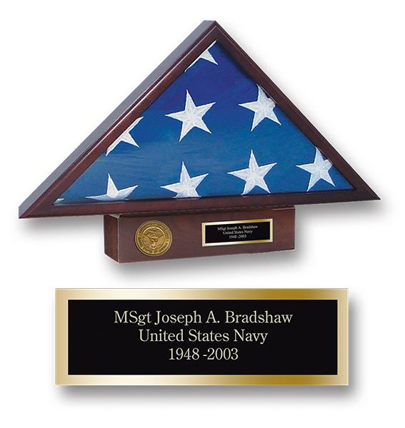U.S. Navy Memorial Medallion Flag Case