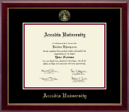 Arcadia University Gold Embossed Diploma Frame in Gallery