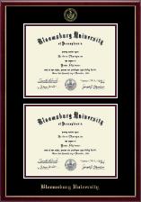 Bloomsburg University Double Diploma Frame in Galleria