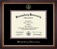 Bloomsburg University Gold Embossed Diploma Frame in Regency Gold