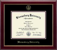 Bloomsburg University Gold Embossed Diploma Frame in Gallery