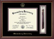 Bloomsburg University Tassel Diploma Frame in Newport