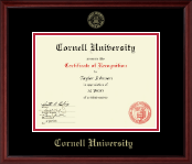 Gold Embossed Certificate Frame in Camby