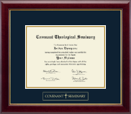 Covenant Theological Seminary Gold Embossed Diploma Frame in Gallery