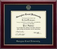 Georgian Court University Gold Embossed Diploma Frame in Gallery
