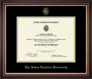 Gold Embossed Certificate Frame in Regency Gold