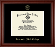 Gold Embossed Edition Frame in Cambridge
